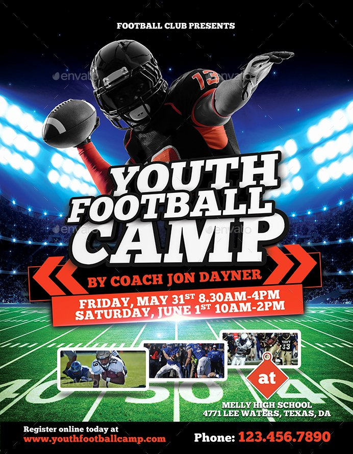 Football Flyer Template Free Fresh Football Camp Flyer by Inddesigner
