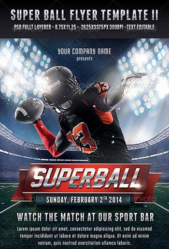 Football Flyer Template Free Luxury Flyer Designs for that Super Bowl Party Templates