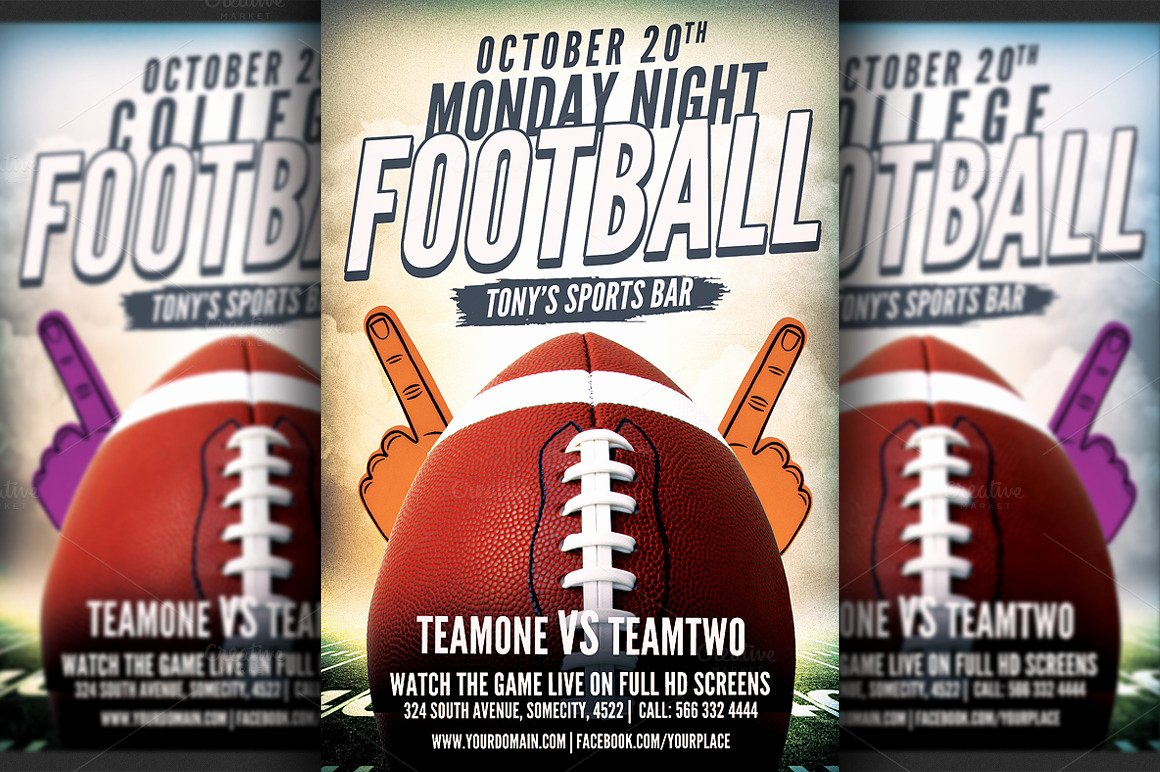 Football Flyer Template Free New American Football Flyer Template Flyer Templates On