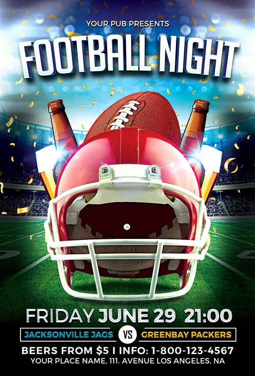 Football Flyer Template Free New Download the Football Night Flyer Template
