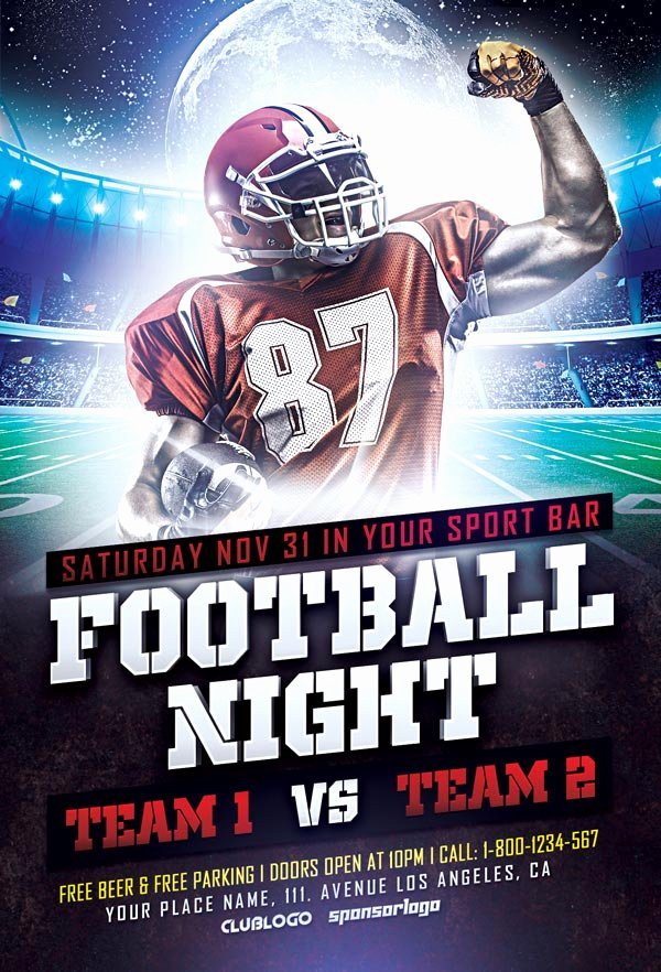 Football Flyer Template Free Unique Download Free Football Sports Flyer Template
