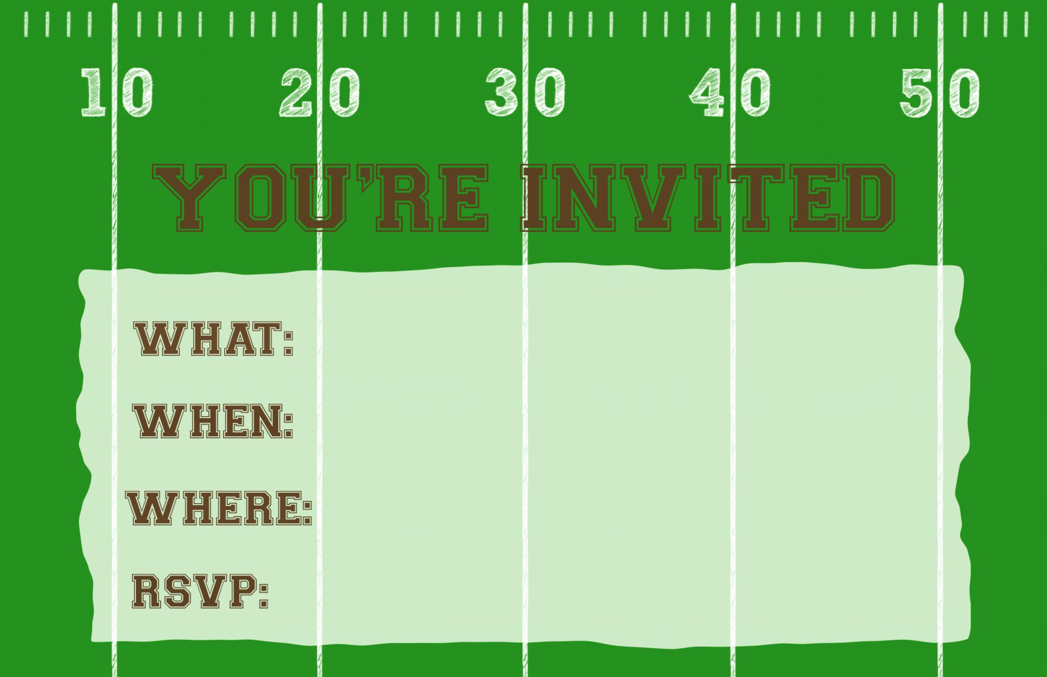 Football Invitation Template Free Awesome Football Party Invitation Template Free Printable