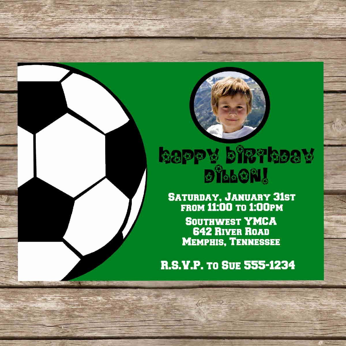 Football Invitation Template Free Elegant Free Football Birthday Invitations