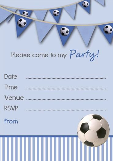 Football Invitation Template Free Elegant Free Printable Football Party Invitation Templates