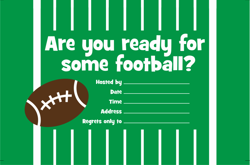 Football Invitation Template Free Elegant Free Printable Invitation