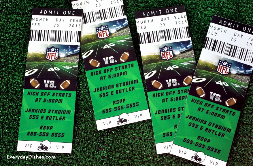 Football Invitation Template Free Lovely Football Ticket Invitations Printable Everyday Dishes & Diy