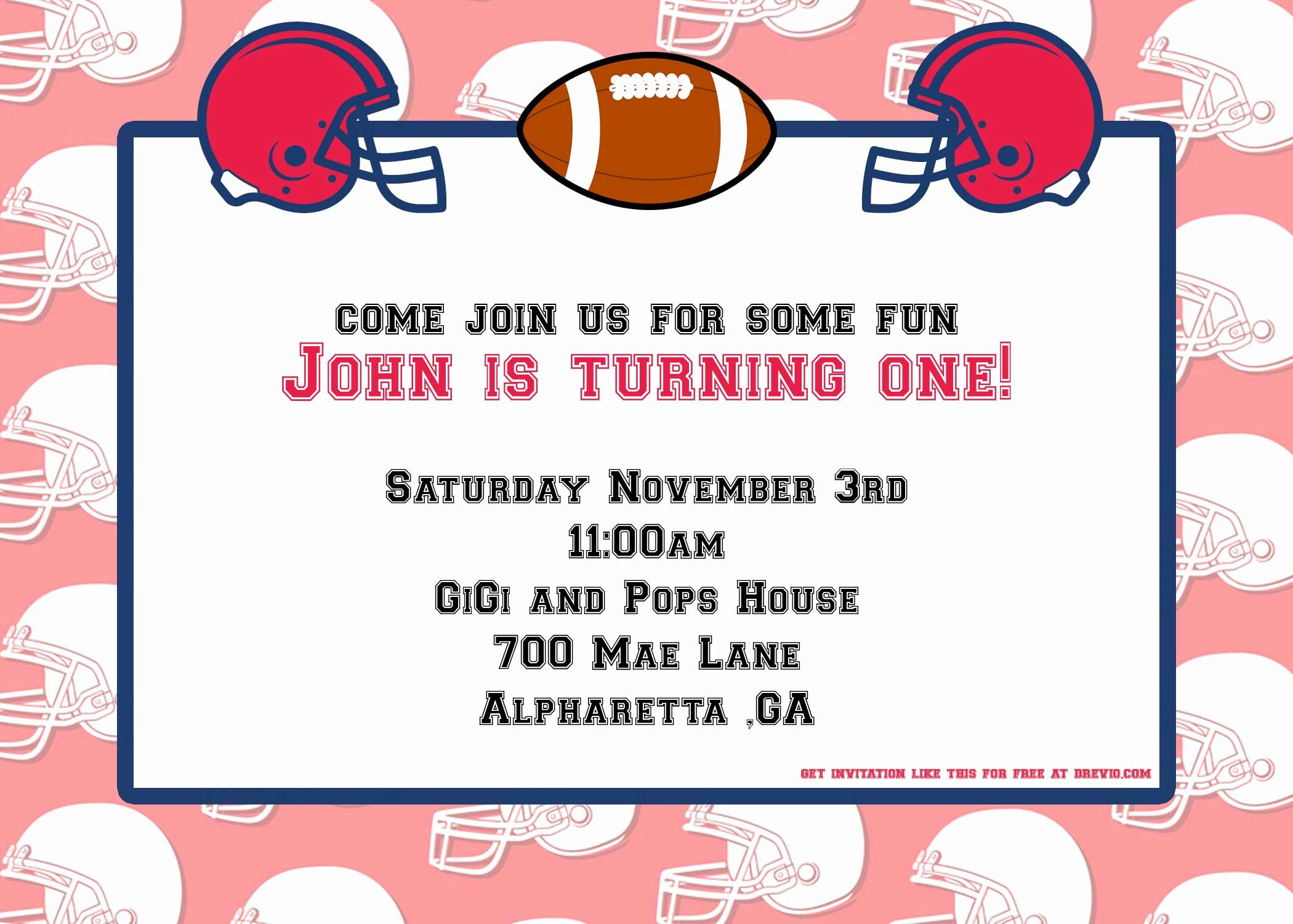 Football Invitation Template Free Lovely Free Football Party Invitation Template – Free Printable