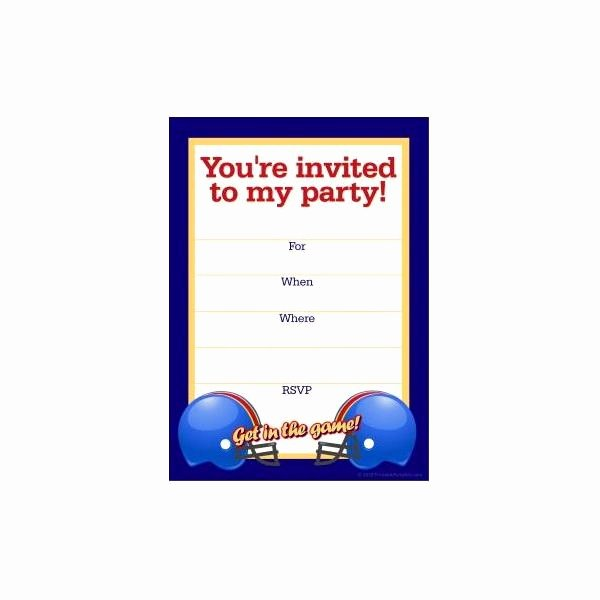 Football Invitation Template Free Lovely Free Football Party Templates to Download From Line sources