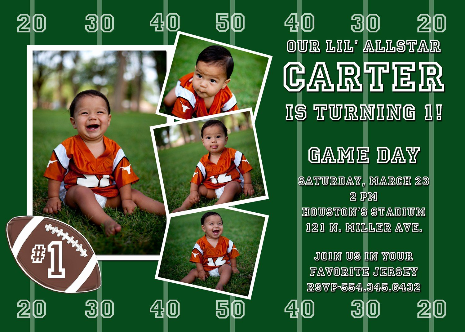 Football Invitation Template Free Lovely Free Printable Football Birthday Invitations