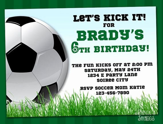 Football Invitation Template Free Lovely soccer Invitation Printable Football Birthday Invite
