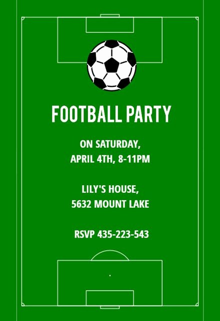 Football Invitation Template Free Luxury Sports & Games Invitation Templates Free