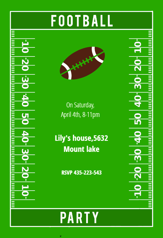 Football Invitation Template Free Unique Football Party Free Sports & Games Invitation Template