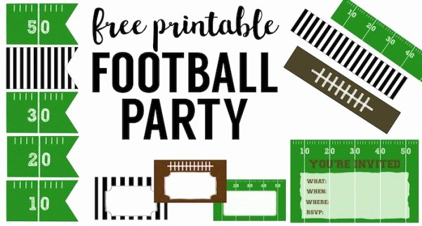 Football Party Invitation Template Awesome Football Party Invitation Template Free Printable