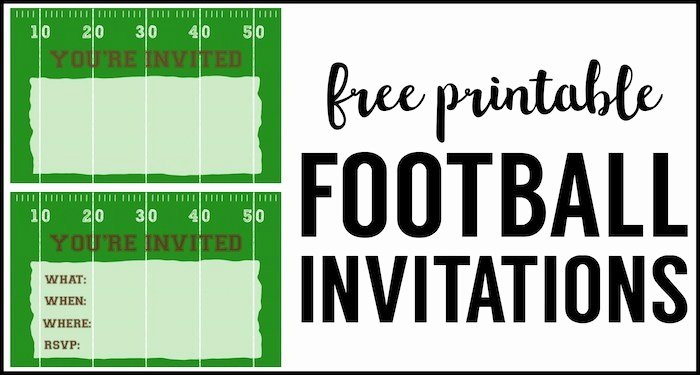 Football Party Invitation Template Beautiful Football Party Invitation Template Free Printable