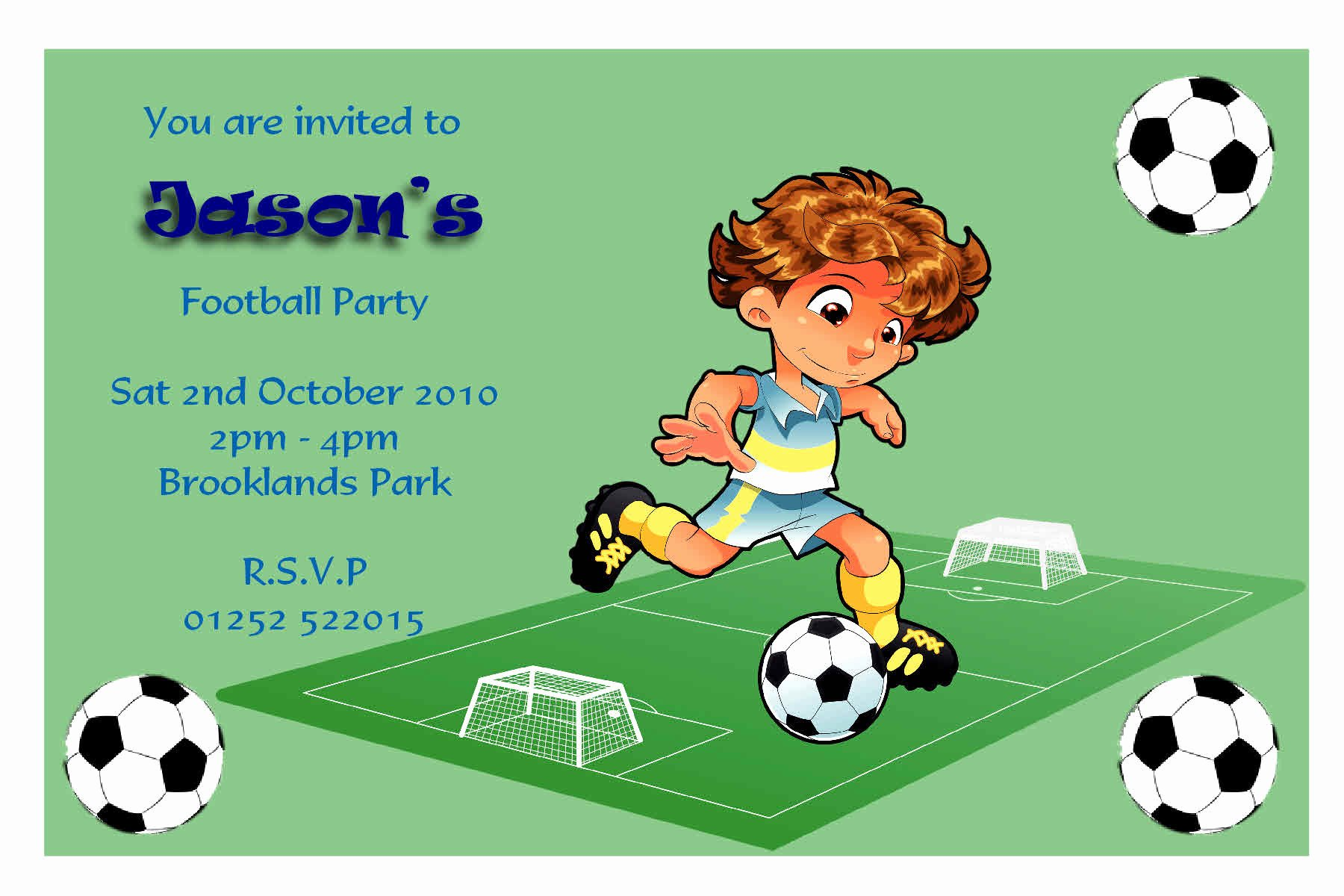 Football Party Invitation Template Best Of Football Invitations Printable