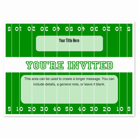 Football Party Invitation Template Elegant Football Field Invitations & Cards On Pingg