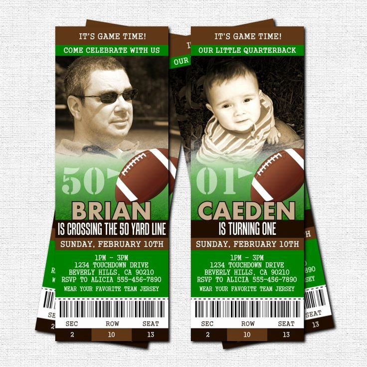 Football Party Invitation Template Inspirational Best 25 Football Ticket Ideas On Pinterest