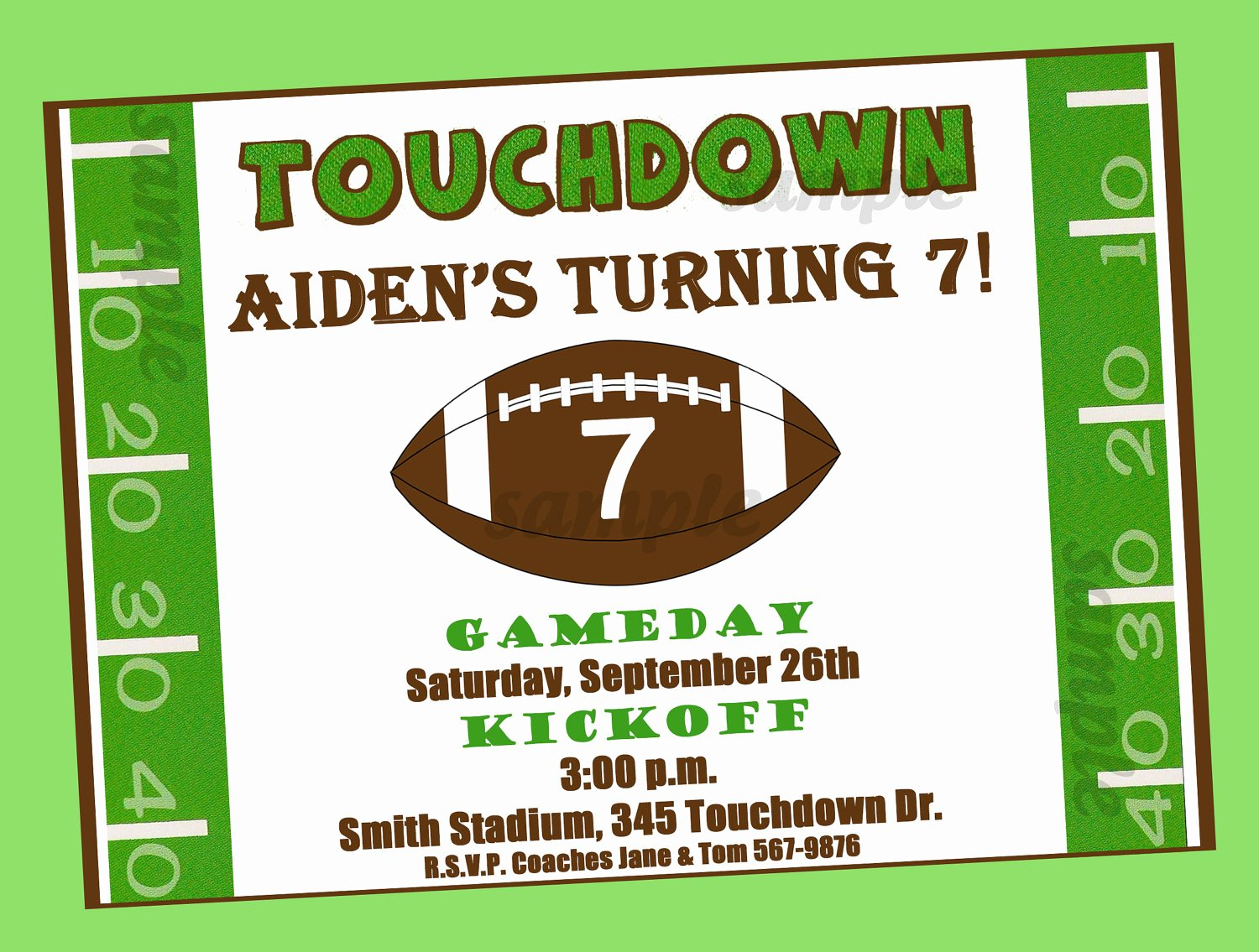 Football Party Invitation Template Inspirational Free Printable Football Birthday Invitations