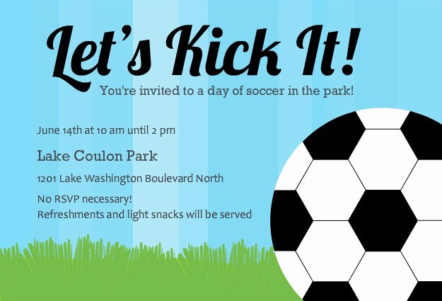 Football Party Invitation Template Lovely 40th Birthday Ideas soccer Birthday Invitation Templates Free