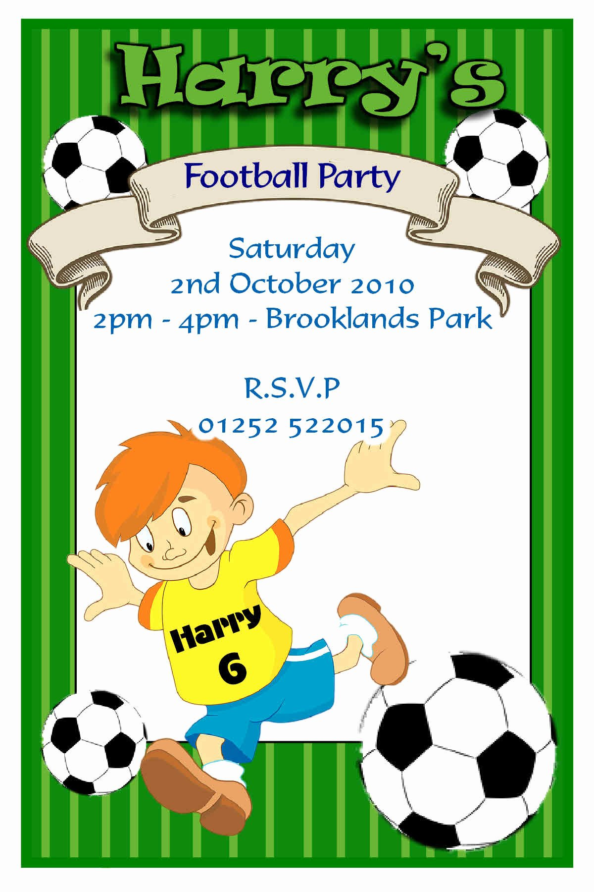 Football Party Invitation Template Luxury How to Design A Birthday Invitations