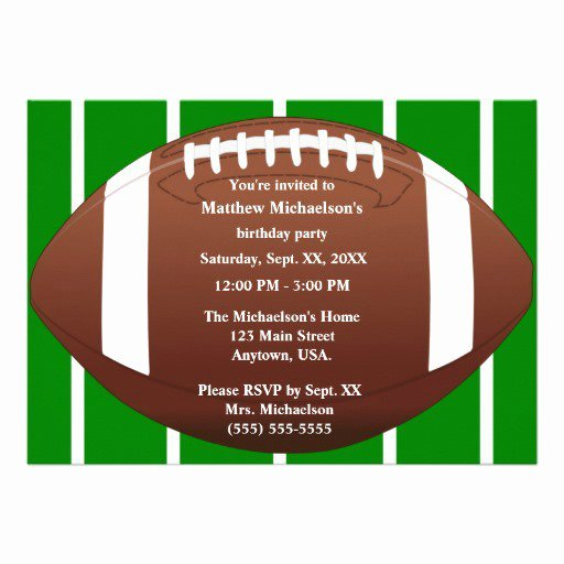 Football Party Invitation Template New Football Birthday Invitation Templates