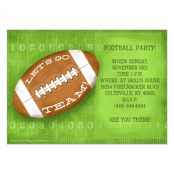 Football Party Invitation Template New Football Invitation Template Invitation Template
