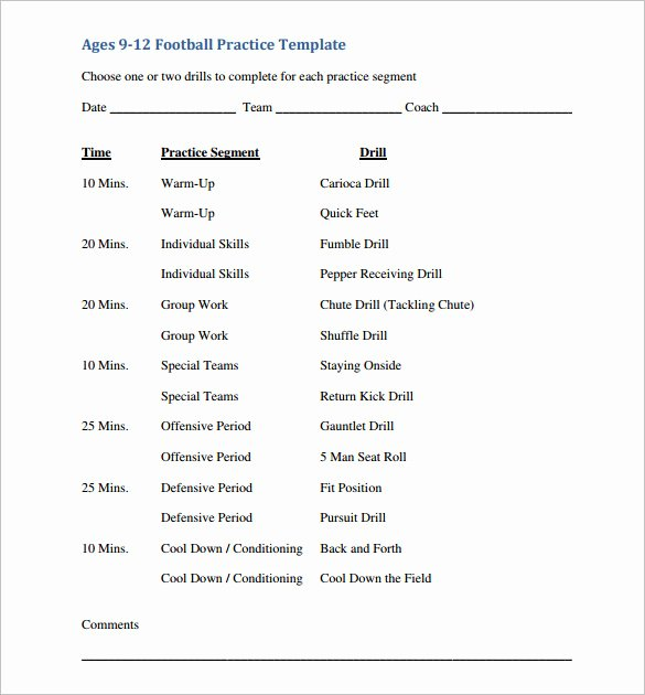 Football Practice Schedule Template Luxury 11 Practice Schedule Templates Doc Pdf