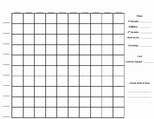 Football Squares Template Excel Best Of Football Squares Template Excel Super Bowl 2017 Free