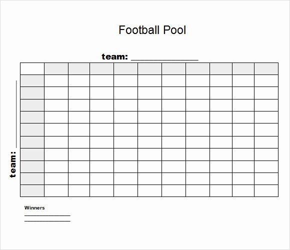 Football Squares Template Excel Elegant 8 Football Pool Samples