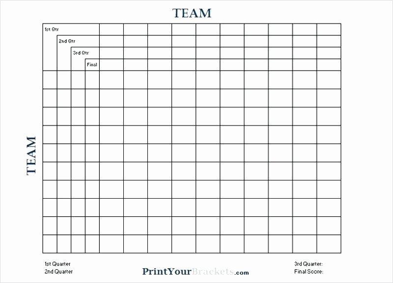 Football Squares Template Excel Elegant Football Squares Template 25 for Printable Square
