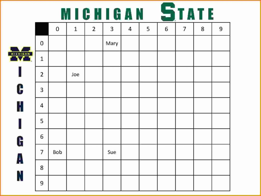 Football Squares Template Excel Lovely Football Squares Template Excel