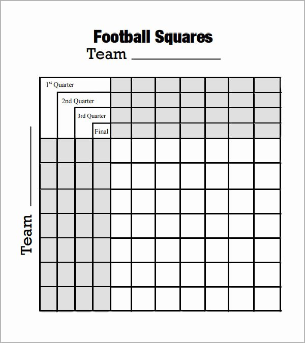 Football Squares Template Excel New 8 Beautiful Sample Foot Ball Square Templates