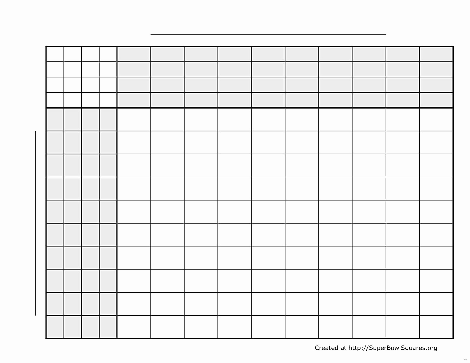 Football Squares Template Excel Unique Printable Superbowl Squares Lovely Super Bowl Squares
