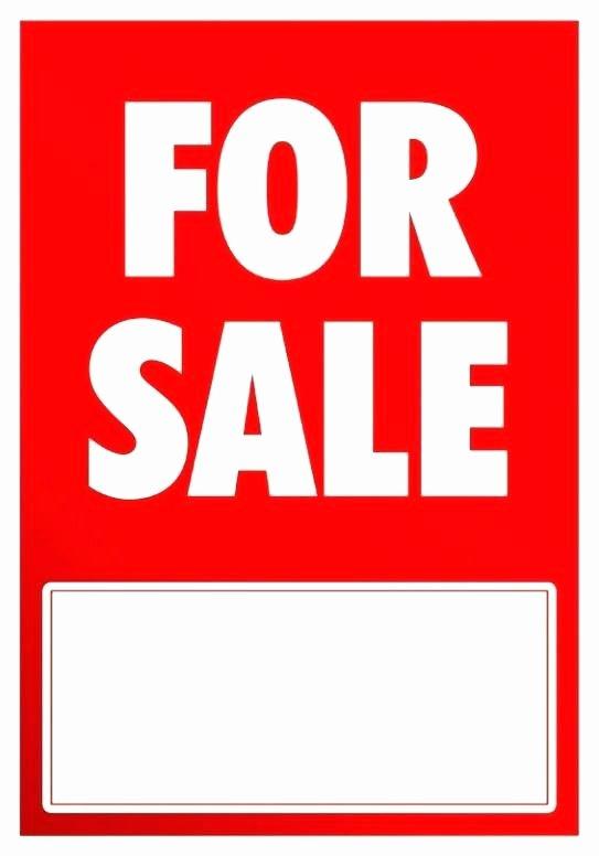 For Sale Sign Template Elegant Car for Sale Sign Free Printable Garage Signs Templates