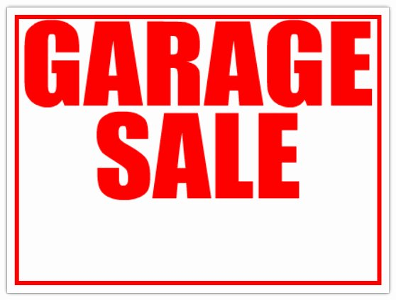 For Sale Sign Template Lovely 6 Best Of Printable Garage Sale Sticker Templates