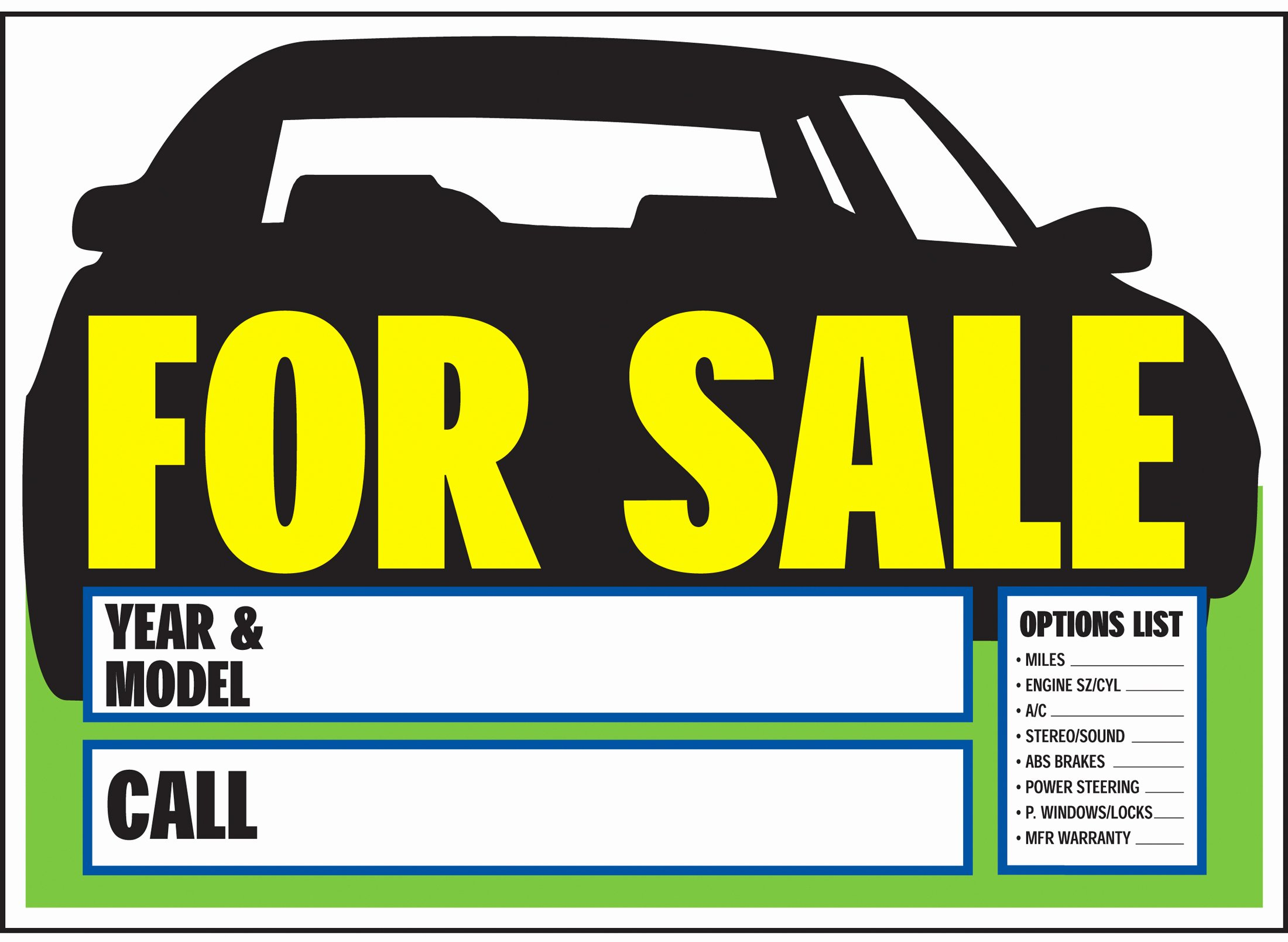 For Sale Sign Template Lovely Printable Car for Sale Sign Template