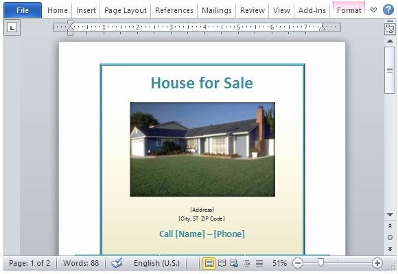 For Sale Template Word Awesome House for Sale Flyer Template for Word