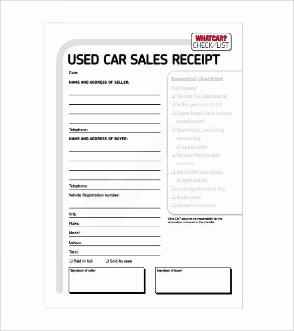 For Sale Template Word Best Of Car Sale Receipt Receipt Template Doc for Word