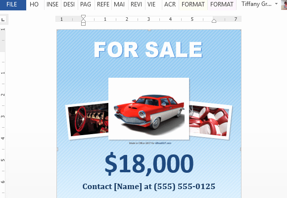 For Sale Template Word Fresh 5 Free Car for Sale Flyer Templates Excel Pdf formats