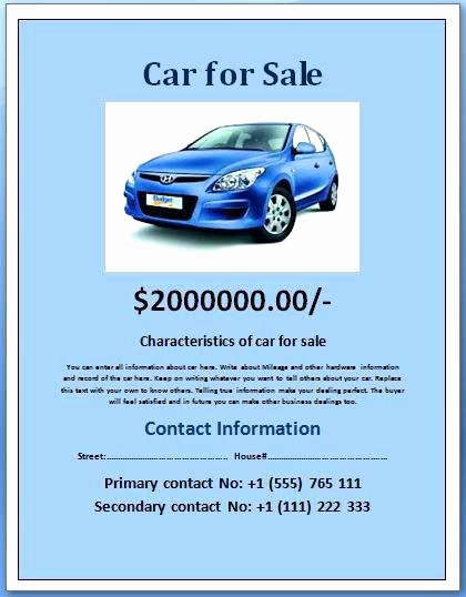 For Sale Template Word Lovely Vehicle for Sale Template Uk Free Bill Word – Flybymedia