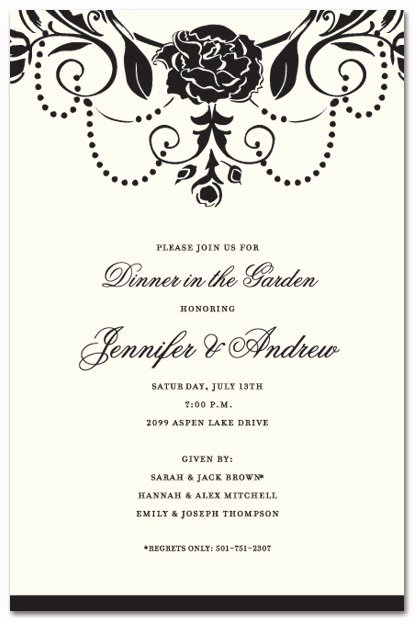 Formal Dinner Invitation Template Awesome formal Party Invitation Wording
