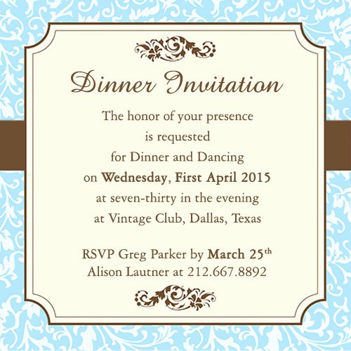 Formal Dinner Invitation Template Best Of Fab Dinner Party Invitation Wording Examples You Can Use