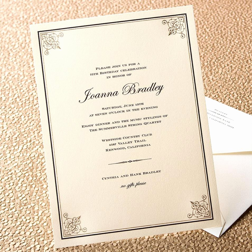 Formal Dinner Invitation Template Elegant formal Dinner Invitation Template