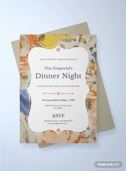 Formal Dinner Invitation Template Fresh Free Gala Dinner Night Invitation Template Download 344