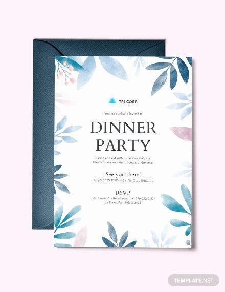 Formal Dinner Invitation Template Inspirational 56 Dinner Invitation Templates In Psd