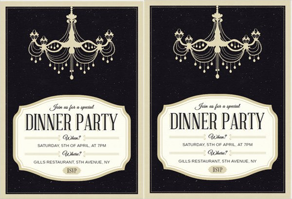 Formal Dinner Invitation Template Luxury 62 Printable Dinner Invitation Templates Psd Ai Word