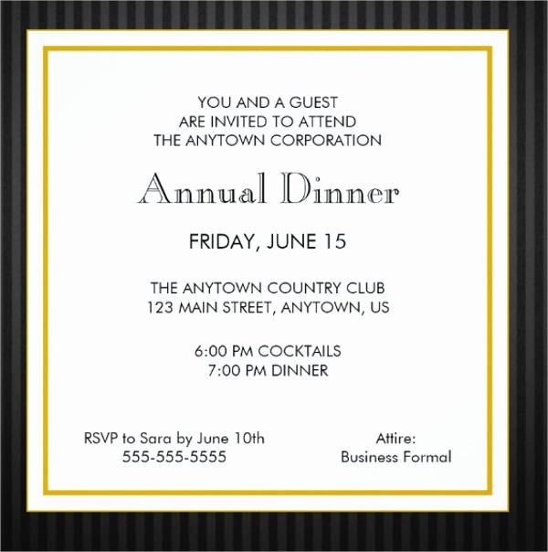 Formal Dinner Invitation Template New 18 formal Dinner Invitations Psd Word Ai Publisher