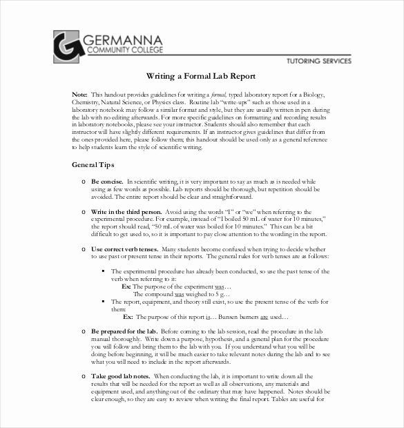 Formal Lab Report Template Beautiful 28 Lab Report Templates Pdf Google Docs Word Apple