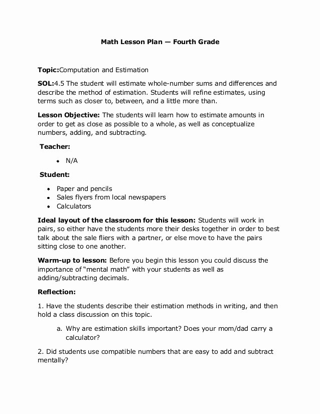 Formal Lesson Plan Template Awesome formal Letter Lesson Plan
