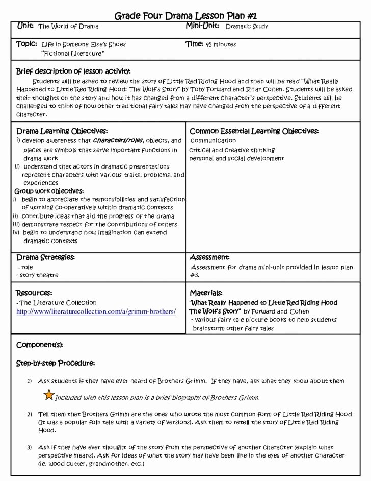 Formal Lesson Plan Template Beautiful formal Lesson Plan Template